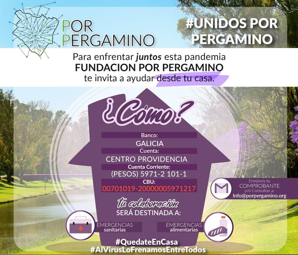 Fundación por Pergamino inicia la campaña de recaudación de fondos por el Coronavirus. 33