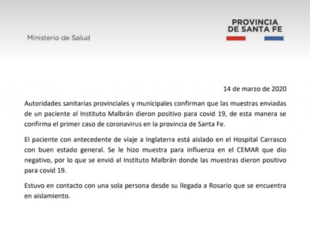 Primer caso de Coronavirus en Rosario 34
