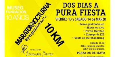 Se viene la 10° edición de la Maratón Nocturna Leandra Barros 14