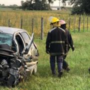 Accidente en Ruta 188 y Av Pellegrini 36