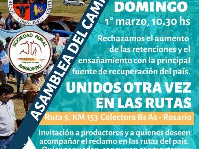 Nueva asambleas de las Sociedades Rurales de la Región 40