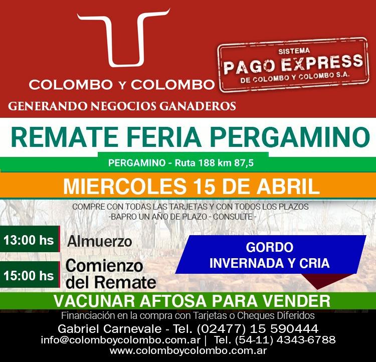 Colombo y Colombo anuncia sus dos próximos remates para el 15 y el 22 de Abril 1