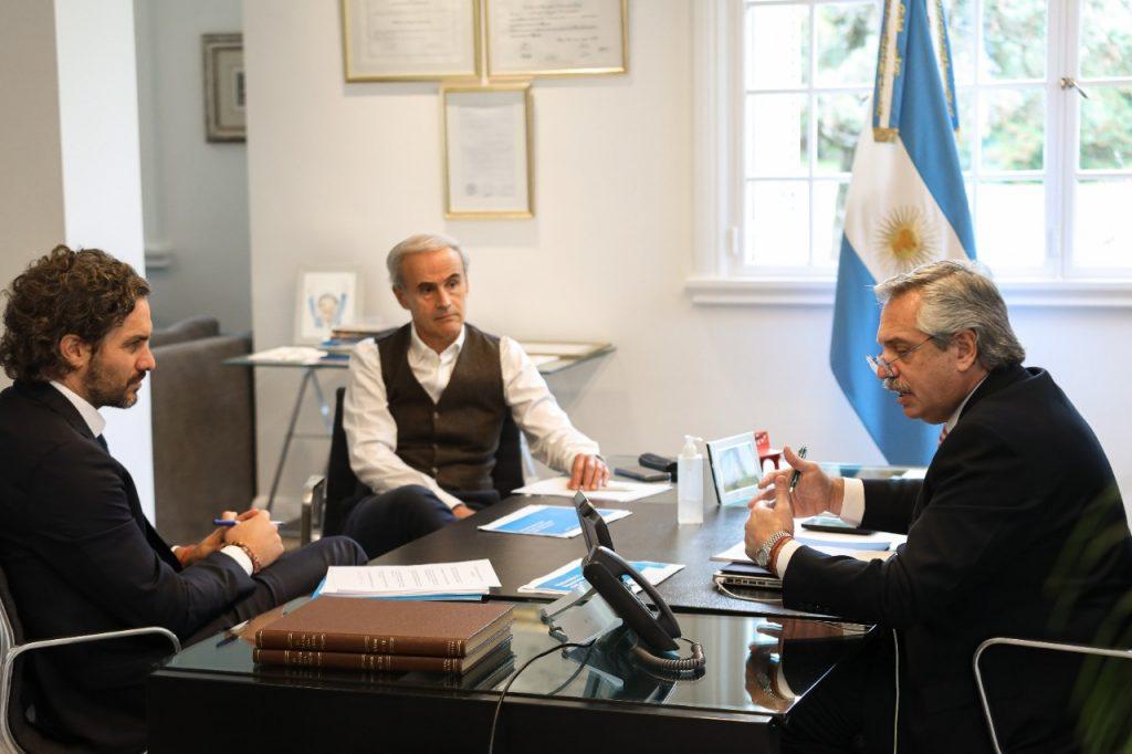 El presidente Alberto Fernández mantuvo una comunicación telefónica con su par chileno Sebastián Piñera 1