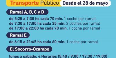 Aumenta la frecuencia horaria del transporte público local 8