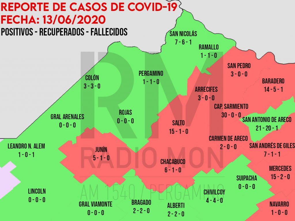 Mapa Regional COVID-19 Radio Mon 1