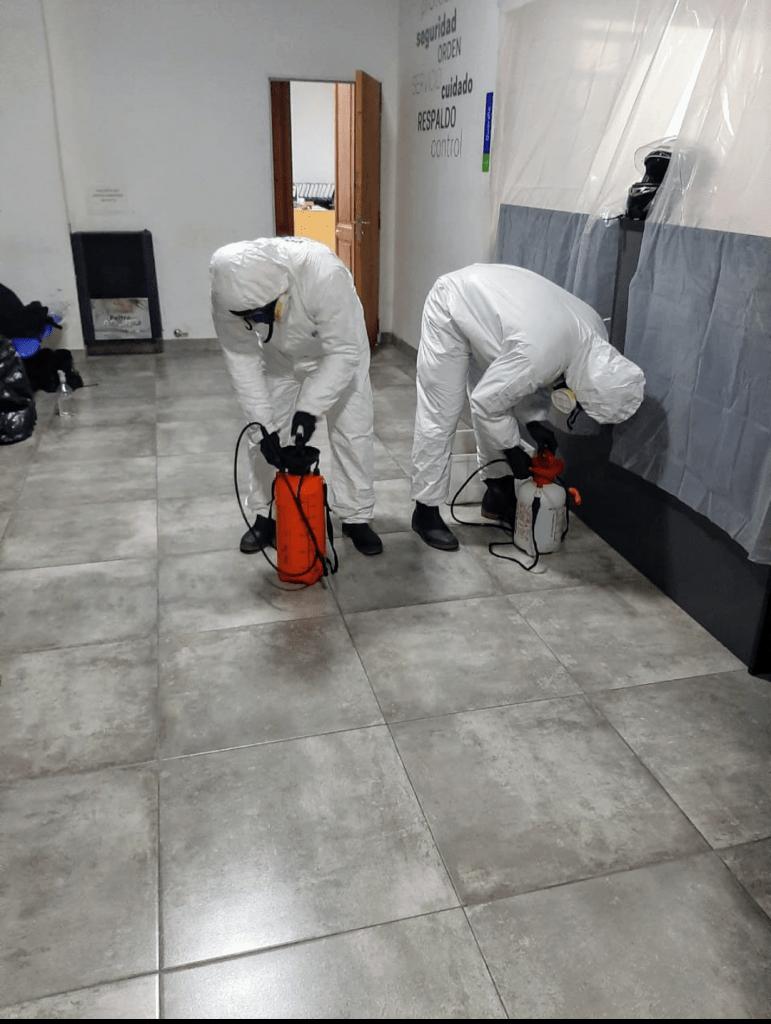 Desinfección de Comisaría 3ra por activación de protocolo en un detenido 1