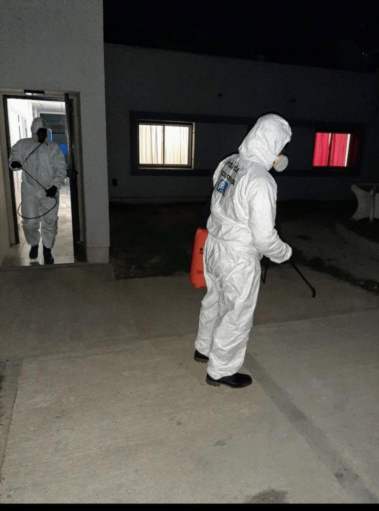Desinfección de Comisaría 3ra por activación de protocolo en un detenido 2