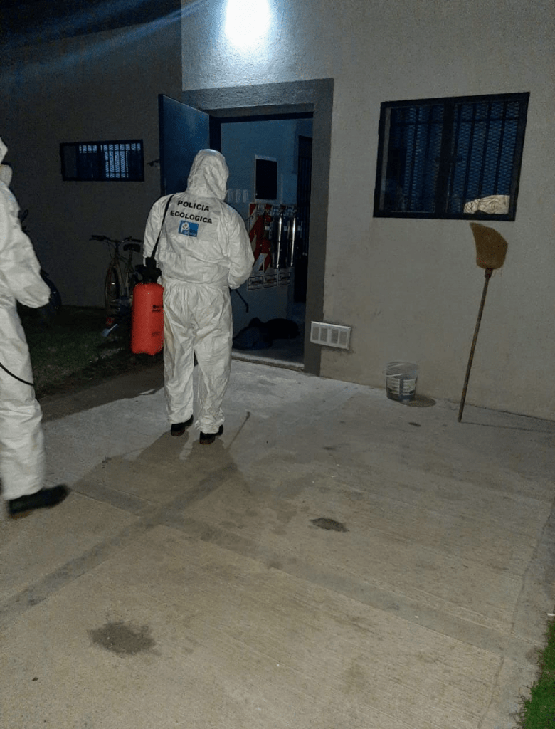 Desinfección de Comisaría 3ra por activación de protocolo en un detenido 3