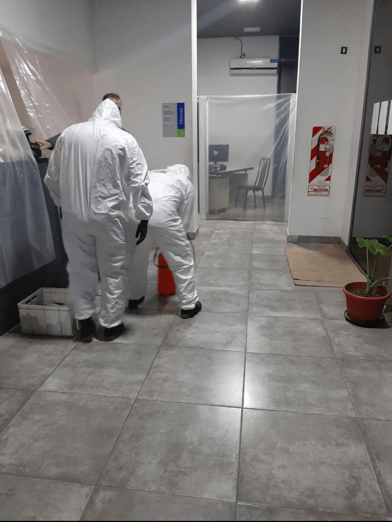 Desinfección de Comisaría 3ra por activación de protocolo en un detenido 4
