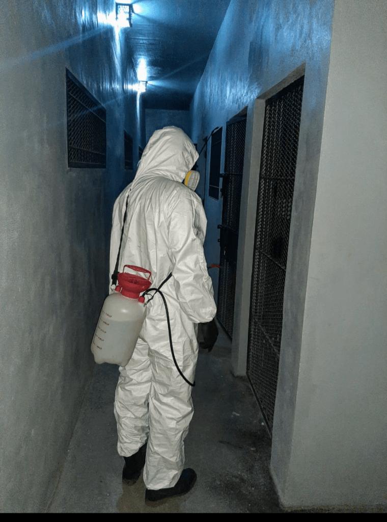 Desinfección de Comisaría 3ra por activación de protocolo en un detenido 6