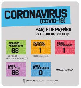 Primer caso positivo de Coronavirus en Rojas 1