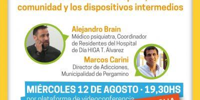 """Charla sobre """"Salud Mental y Adicciones"""", dialogamos con Marcos Carini sobre la conferencia de hoy 5"""