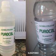 El DIPA advierte sobre un envase de alcohol etílico 4
