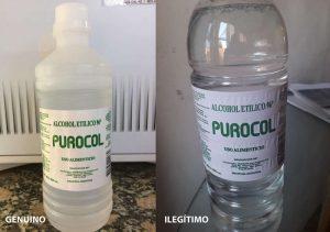El DIPA advierte sobre un envase de alcohol etílico 1