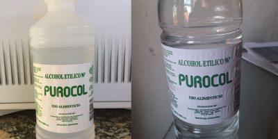 El DIPA advierte sobre un envase de alcohol etílico 9