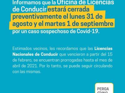 Las oficinas de Licencias de Conducir estarán cerradas por un caso sospechoso de Coronavirus 5