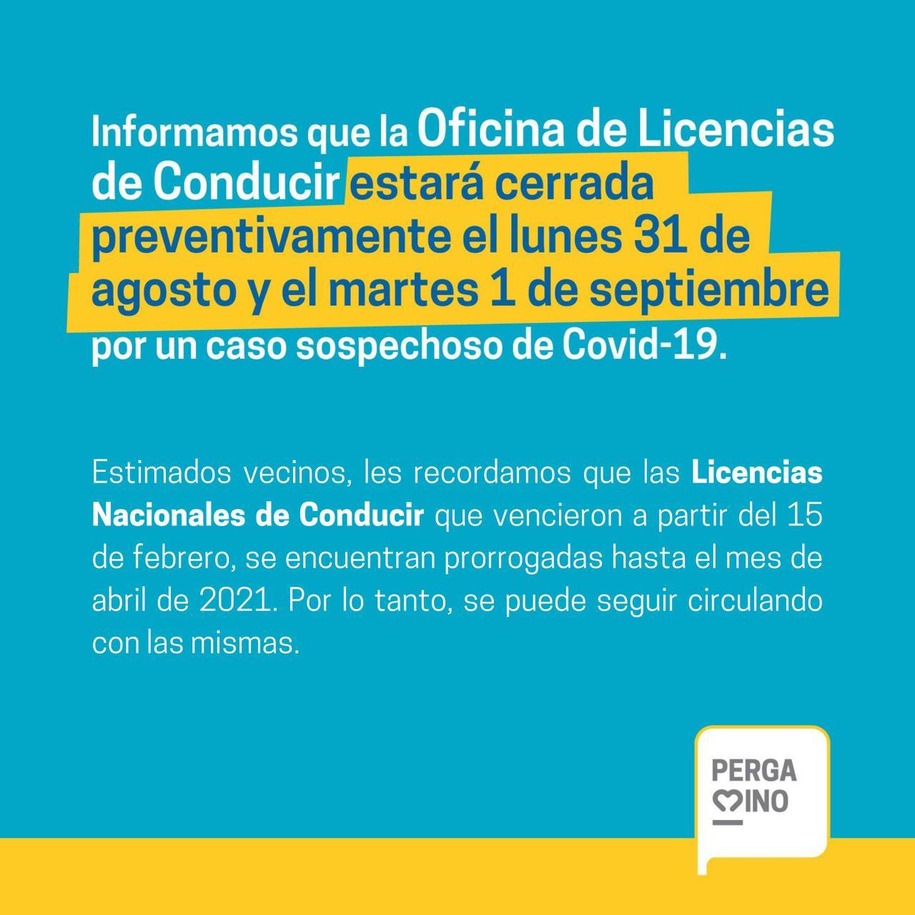 Las oficinas de Licencias de Conducir estarán cerradas por un caso sospechoso de Coronavirus 1