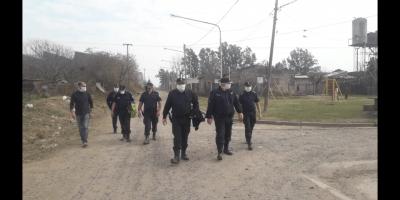 La Cúpula Policial recorrió Barrio Kennedy 10