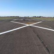 Se están llevando a cabo tareas de mantenimiento en el Aeródromo Local 9