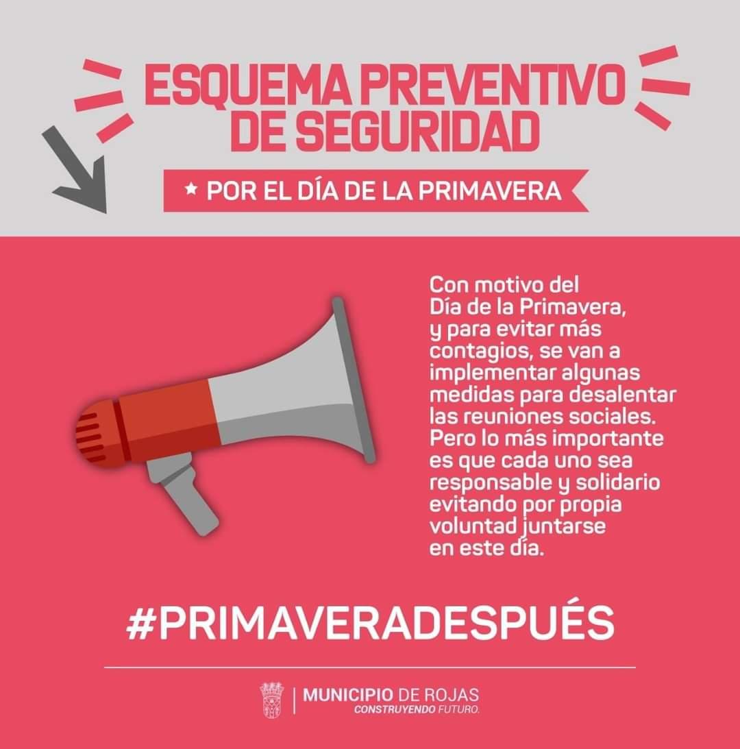 Rojas anunció medidas de prevención por el día de la Primavera 1
