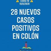 Colón confirmó 28 nuevos casos positivos de Coronavirus 3