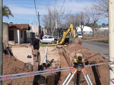 Ampliación de red cloacal en Barrio Mariano Moreno 8