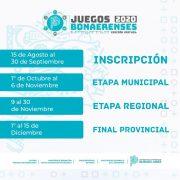 Juegos Bonaerenses 2020: Inscripción hasta el 30 de septiembre 3