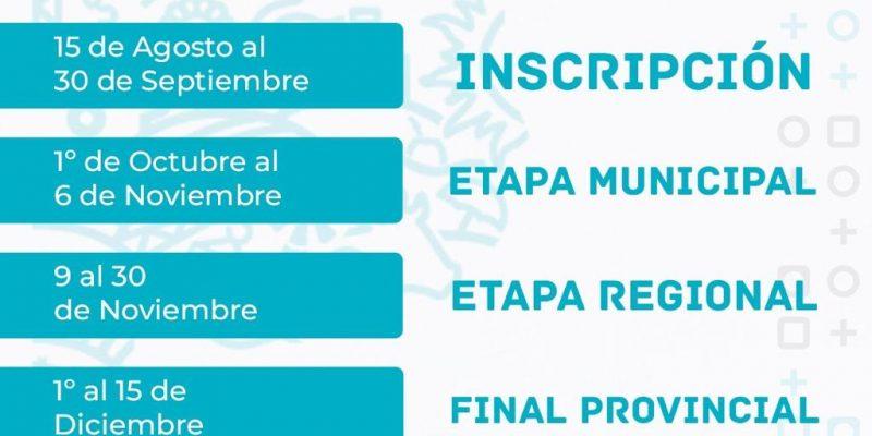 Juegos Bonaerenses 2020: Inscripción hasta el 30 de septiembre 1