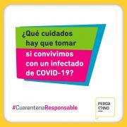 Recomendaciones para quienes convivan con una persona con COVID-19 17