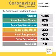 CORONAVIRUS: sin nuevos resultados 24 recuperados y 223 sospechosos 12