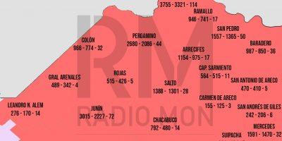 Mapa Regional COVID-19 - RADIO MON 5