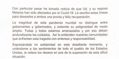 El Presidente Alberto Fernández le escribió a Trump 11