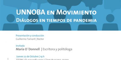 """""""UNNOBA en movimiento"""": hoy María O'Donnell 10"""