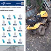 Policía recuperó el tractor robado en el Miguel Morales y aprehendió al autor material 15