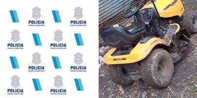 Policía recuperó el tractor robado en el Miguel Morales y aprehendió al autor material 8