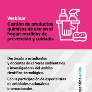 """Charla sobre """"Gestión de Productos químicos de uso en el hogar: medidas de prevención y cuidado"""" 1"""