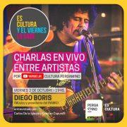 Diego Boris es el invitado de este viernes al ciclo de charlas virtuales de la Subsecretaría de Cultura 16