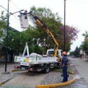 Luces LED para la bicisenda de Bv. Vélez Sarsfield 2