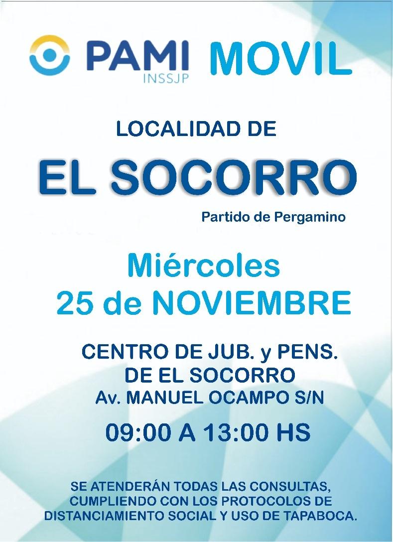 Pami Móvil pasó por Otero, Urquiza y esta semana estará en El Socorro 3