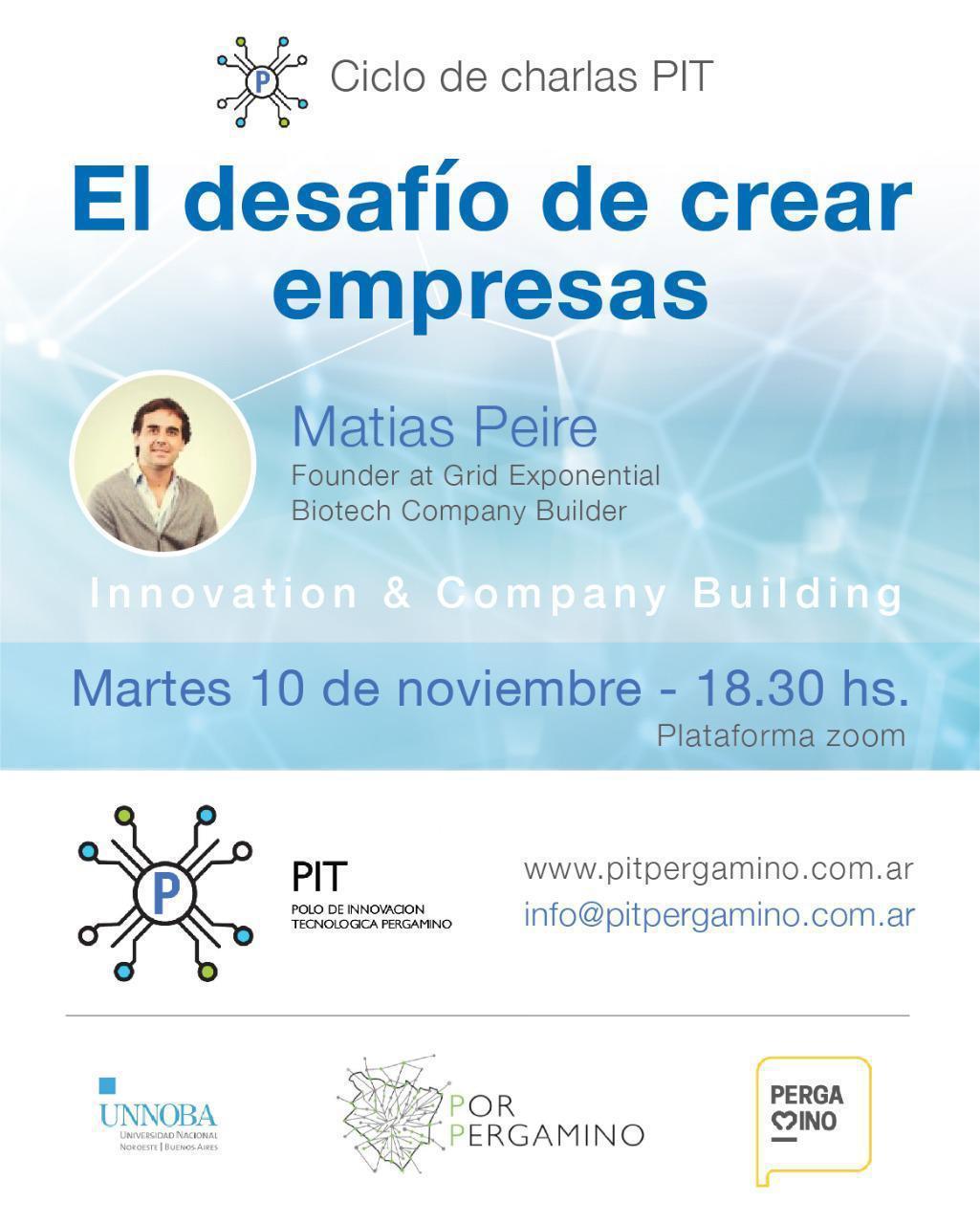 """""""El desafío de crear empresas"""", la nueva propuesta del Polo de Innovación Tecnológica 1"""
