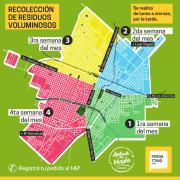 Cronograma de recolección de residuos voluminosos para el mes de diciembre 2
