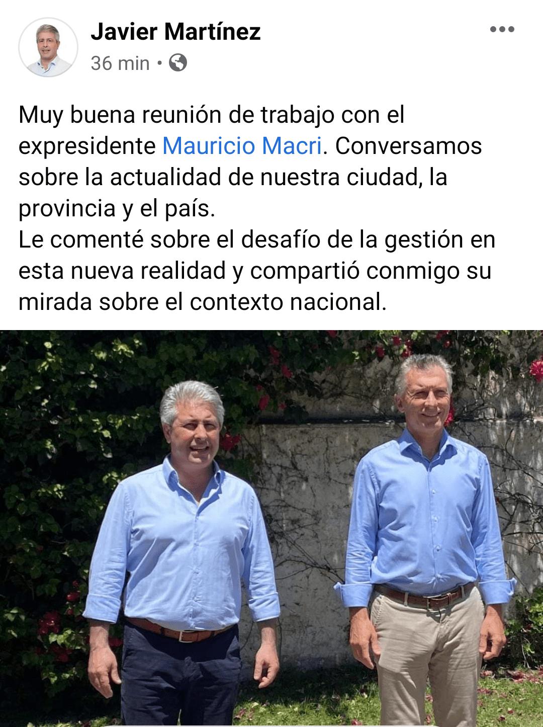 El Intendente Javier Martínez se reunió con el expresidente Mauricio Macri 1