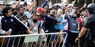 El último adiós a Maradona: Incidentes en las calles 11