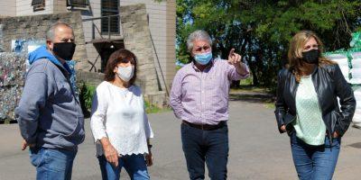 Javier Martínez y Susana Lázzari visitaron el Taller Protegido 5