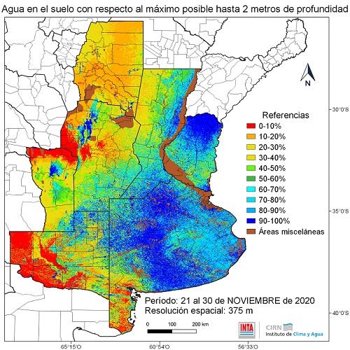 Nuevo balance hídrico del suelo a dos metros de profundidad 1
