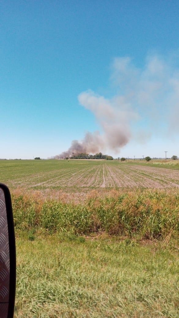 Bomberos trabaja con 3 dotaciones combatiendo un incendio de campo en Fontezuela 2