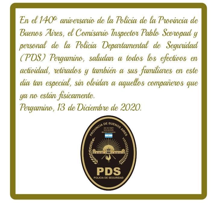 13 de Diciembre: Día del Policía Bonaerense 1
