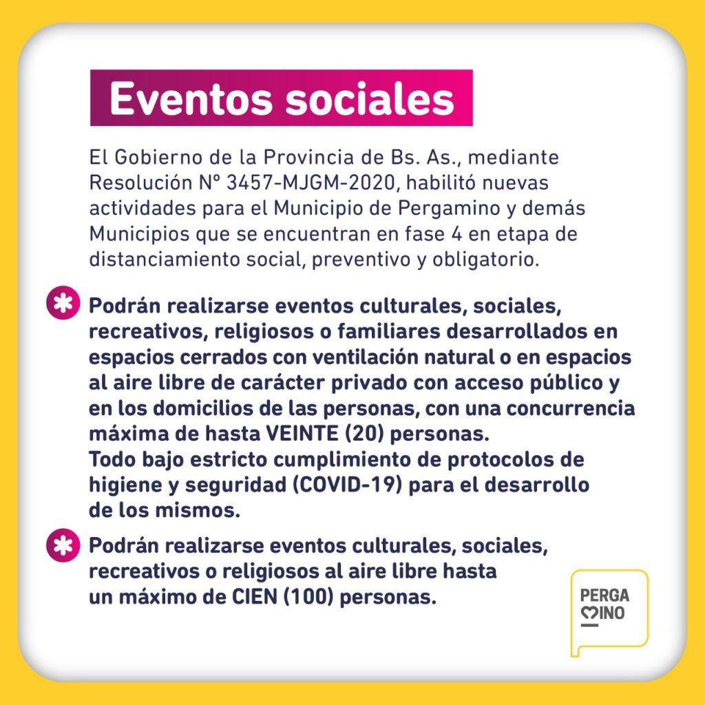 Nuevos permisos para eventos sociales y con público 1
