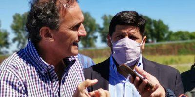 El ministro de Obras Públicas de la Nación Gabriel Katopodis recorrió la obra de la autopista 10