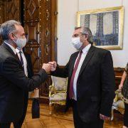 El Presidente recibió a funcionarios de México para analizar la respuesta de ambos países a la pandemia de coronavirus 20